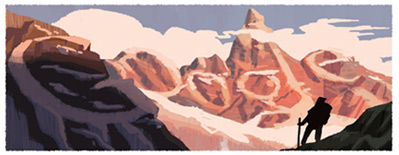 Google Logo: Francisco Pascasio Moreno's 160th birthday - Argentine explorer and naturalist.