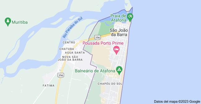 Mapa de Atafona, São João da Barra - Estado de Río de Janeiro, Brasil