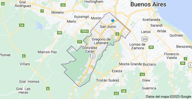 Mapa de La Matanza, Buenos Aires