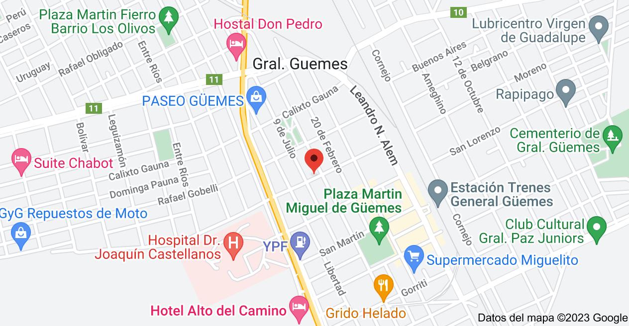 Mapa de Sarmiento 351, Gral. Guemes, Salta