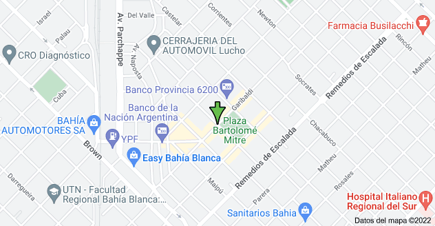 Mapa de Rivadavia & Garibaldi, B8001 Bahía Blanca, Buenos Aires